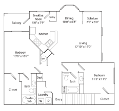 Two Bedroom Floor Plan Apartments With Washer And Dryer Apartments With Balconies One