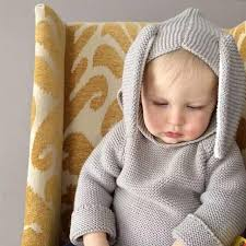 Sweaters For Toddler Boy New Autumn Winter Cute Baby Sweater Rabbit Ears Hooded Knitted