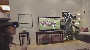 super bowl 2016 watch microsoft hololens bring nfl match of the