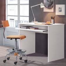 Computer Desk White Gloss 54 Desk With Pull Out Shelf Beech Desk Home Office Computer Work