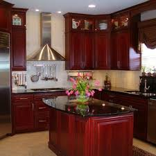 Cherry Wood Kitchen Cabinets With Black Granite Black Granite With Cherry Cabinets Kitchen Black Cherry