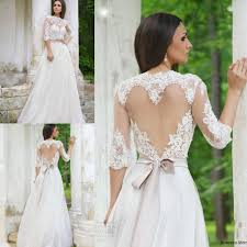 lace wedding dress with sleeves 2016 lace wedding dresses half sleeves high neck heart