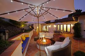 Outdoor Patio Lamp by Ideas For Outdoor Patio Lighting With Umbrella Using String Lights