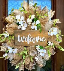 spring wreaths for front door front door chic welcome wreath front door design wreath front