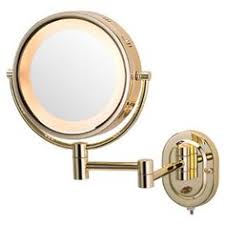 wall mounted magnifying mirror with light antique brass finish wall mounted bathroom magnifying glass cosmetic