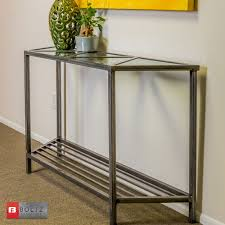 Steel Console Table 5 Tri Steel Console Table With Glass Triangle Top Inserts Boltz
