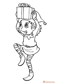 elf coloring pages incredible free printable collection