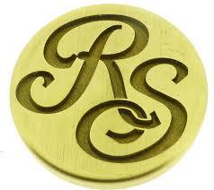 Create Monogram Initials Custom 2 Initials Monogram Wax Seal Stamp From 22mm Wax Seals