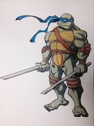 leonardo drawing ninja turtles claytowerz1 deviantart