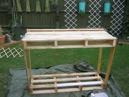 mishaps in the making wooden pallet potting bench