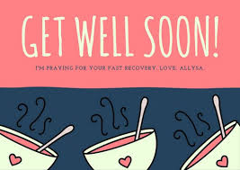get well soon soup pink and blue soup bowl get well soon card templates by canva