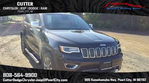 jeep avenger hood new 2017 jeep grand cherokee overland sport utility in pearl city