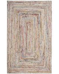 Woven Cotton Area Rugs Amazing Deal Safavieh Braided Contemporary Woven Beige