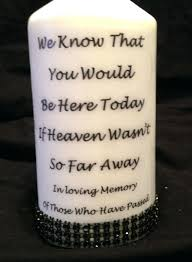 in loving memory items memory candles for wedding items similar to candle personalized on