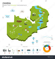Map Of Zambia Energy Industry Ecology Zambia Vector Map Stock Vector 216680779