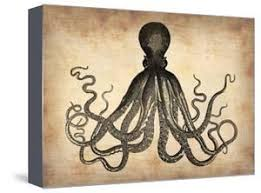 art deco octopus ring holder images Beautiful octopus canvas artwork for sale posters and prints jpg