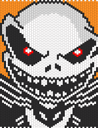 evil jack skellington from the nightmare before christmas bead