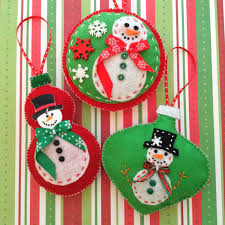 whimsical snowman ornaments ornaments handmade and