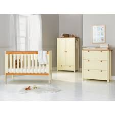 Pine Nursery Furniture Sets Classic Two Tone 3 Nursery Furniture Set White And Pine