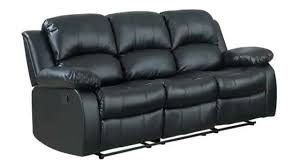 How To Disassemble Recliner Sofa Homelegance 9700blk 3 Reclining Sofa Black Bonded Leather