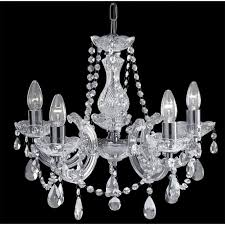 searchlight 399 5 therese 5 light polished chrome chandelier