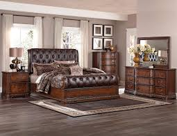 Bedroom Set Design Furniture Homelegance Brompton Lane Upholstered Bedroom Set Cherry B1847 1