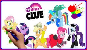 my little pony color book mlp my little clue coloring book for kids my little pony