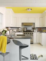 Grey And White Kitchen Ideas Kitchen Porcelain Curtain Cabinets Honey Countertops Island Wall