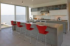 stainless steel kitchen island kitchen contemporary with bar stool