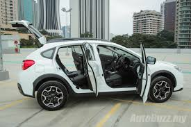 gray subaru crosstrek review subaru xv a very likeable ckd japanese crossover