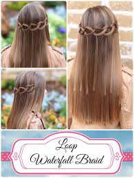 tutorial rambut waterfall how to create a loop waterfall braid fuzito hair pinterest