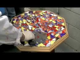 How To Make A Mosaic Table Top How To Mosaics Grouting U0026 Polishing Youtube