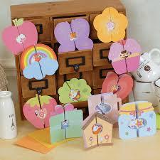 child handmade card diy material kit to send the teacher birthday