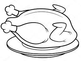 roast chicken u2014 stock vector sararoom 29175181