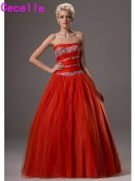 online get cheap orange prom dresses ball gown aliexpress com