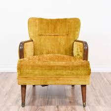 mustard yellow mid century modern armchair 2 loveseat vintage
