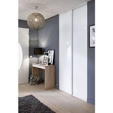 deco porte placard chambre de placard coulissante glisseo décor verre laqué blanc rangements