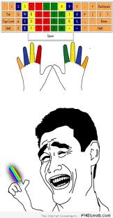 Meme Keyboard - using one finger to type on the keyboard meme pmslweb