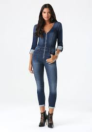 sleeve denim jumpsuit denim jumpsuit bebe