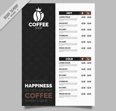 coffee shop menu template cafe menu template 27 free psd ai eps vector format