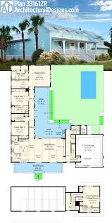 plan 33161zr net zero ready house plan with l shaped lanai