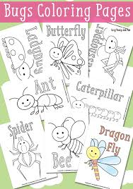 free coloring pages printable pictures insects fresh plans