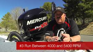 mercury pro xs 225 break in procedures youtube