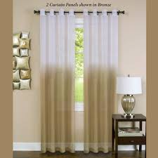 Grommet Window Curtains Essence Semi Sheer Ombre Grommet Curtain Panels