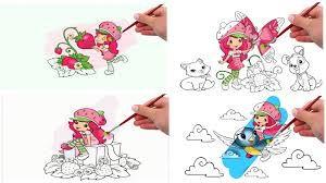 strawberry shortcake for kids coloring pages coloring book youtube