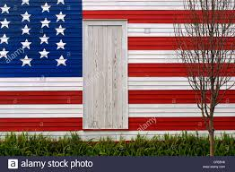 How To Paint American Flag Wall Of House Painted Entirely With Stars And Stripes Of The