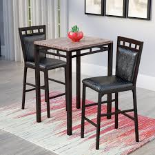 rectangle pub table sets latitude run eric 3 piece pub table set reviews wayfair
