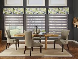 valance shades for casual dining room idea cool window treatment