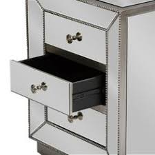 omni mirrored 3 drawer chest mirror furniture drawers and