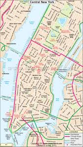 New York Bus Map by Map Of Central New York City